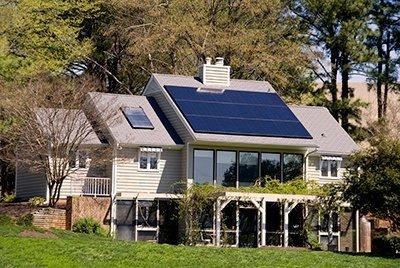 solar energy powered home